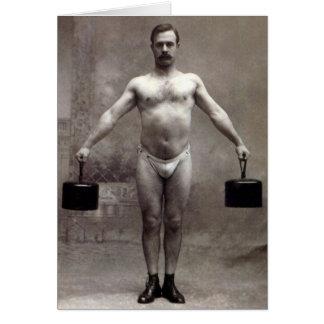 Vintage Strongman Card