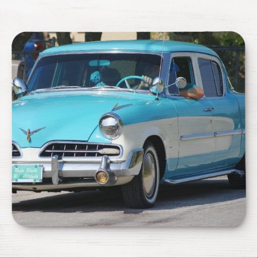 Vintage Studebaker in blue and white mousepad