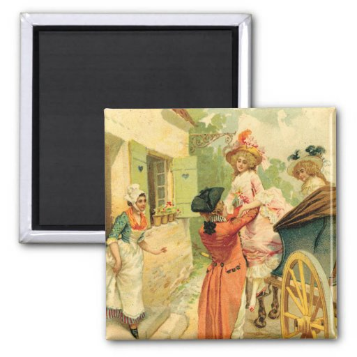 Vintage Style 18th Century Carriage Magnet
