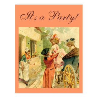 Vintage Style 18th Century Carriage Postcard