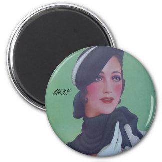 Vintage Style 1932 2 Inch Round Magnet
