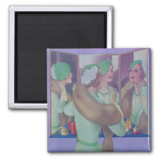 Vintage Style 1932 2 Inch Square Magnet