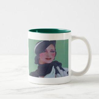 Vintage Style 1932 Two-Tone Coffee Mug