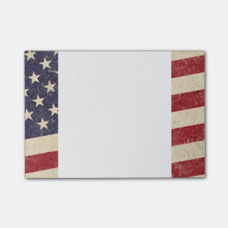Vintage Style American Flag Grunge Look Post-it Notes