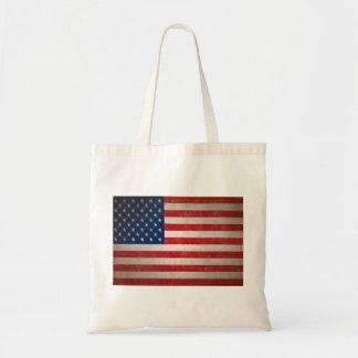 Vintage Style American Flag Patriotic Design Bag