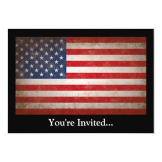 Vintage Style American Flag Patriotic Design Card