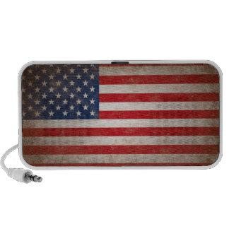 Vintage Style American Flag Patriotic Design Portable Speaker