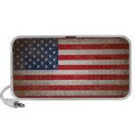 Vintage Style American Flag Patriotic Design Laptop Speaker