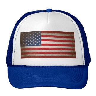 Vintage Style American Flag Patriotic Design Trucker Hat