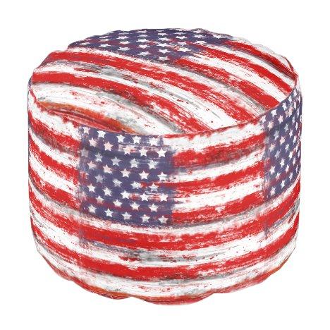 vintage style american flag pouf