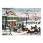 "Vintage style American winter Christmas Invitation 5"" X 7"" Invitation Card"