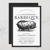 Vintage Style | Anniversary | BBQ Pig Roast Invitation