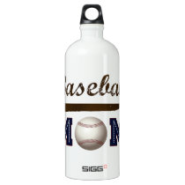 Vintage Style baseball mom Aluminum Water Bottle