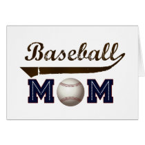 Vintage Style baseball mom Card
