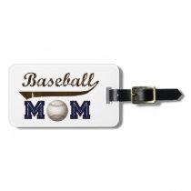 Vintage Style baseball mom Luggage Tag