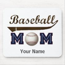 Vintage Style baseball mom Mouse Pad