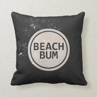 Vintage Style Beach Bum Beach Tag Pillow
