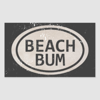 Vintage Style Beach Bum Beach Tag Stickers