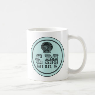 Vintage Style Beach Cape May NJ Tag Mug