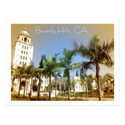 Vintage Style Beverly Hills Postcard!