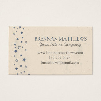 Vintage Style Blue Stars Business Card