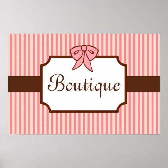 Vintage Style Boutique Sign Art Print.