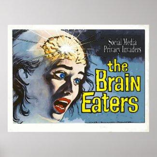 Vintage Style, Brain Eater, Fake Cinema Poster