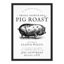 Vintage Style | Bridal BBQ Pig Roast Party Invitation