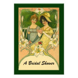 Vintage Style Bridal Shower Receiving Invitations