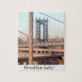 vintage style, Brooklyn Bridge Jigsaw Puzzle