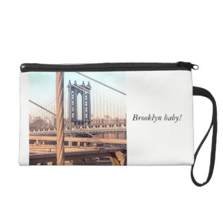 vintage style, Brooklyn Bridge Wristlet Purse