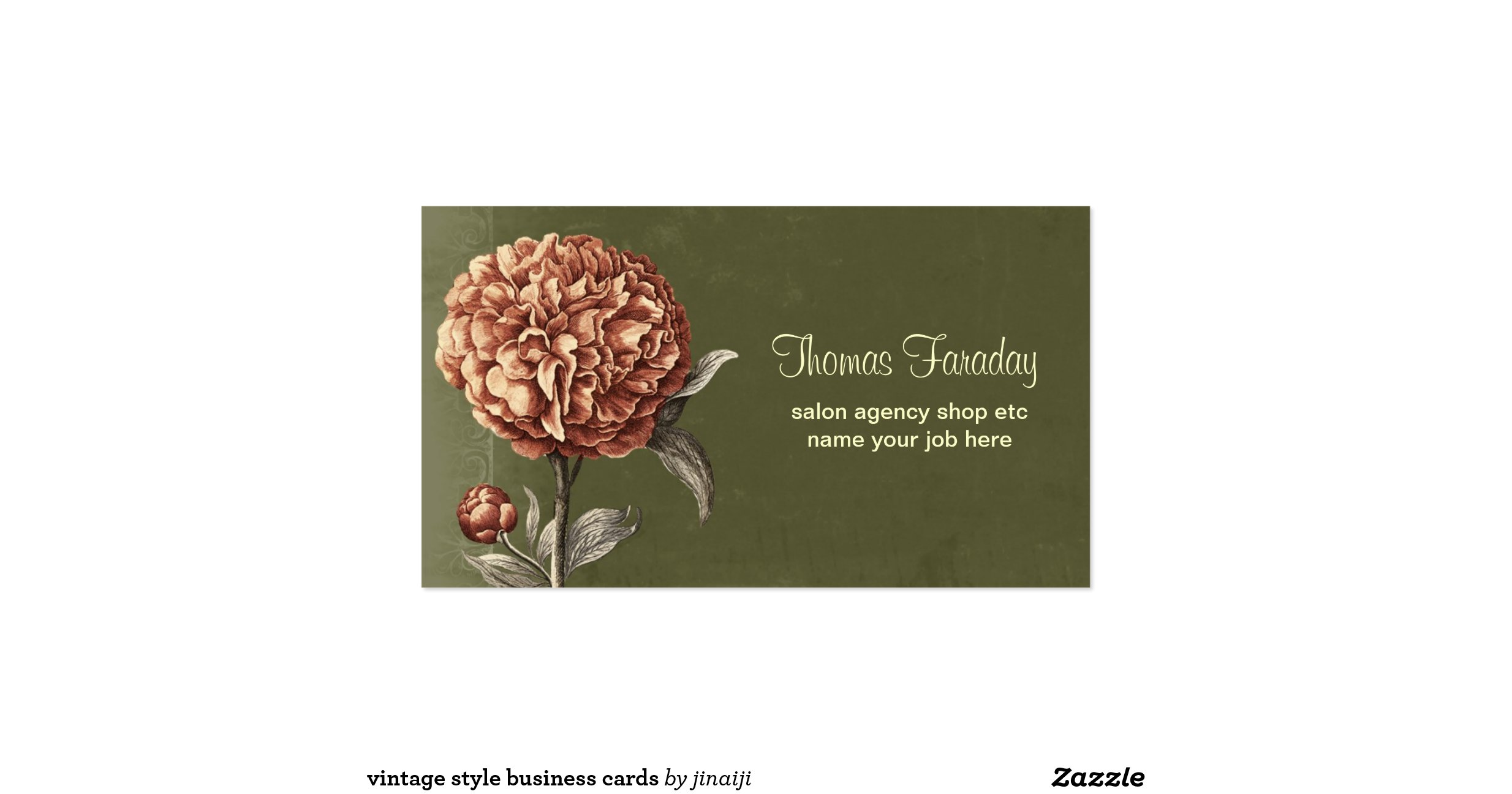 Vintage style business cards for Business cards vintage style