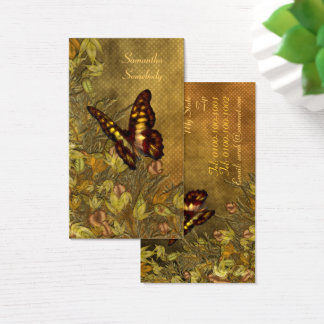 Vintage Style Butterfly Illustration Business Card