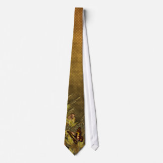 Vintage Style Butterfly Illustration Tie