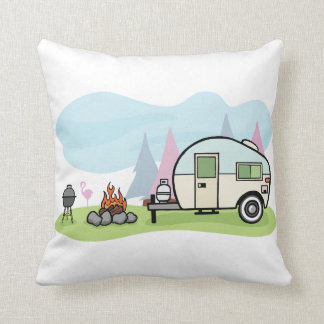 Vintage Style Camper Pillow