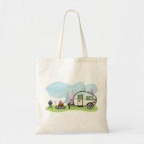 Vintage Style Camper Tote Bag