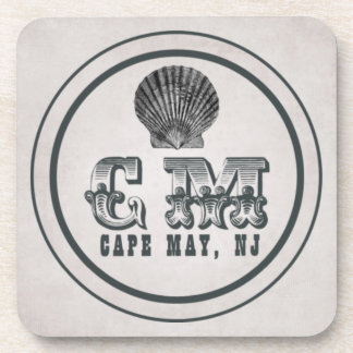 Vintage Style Cape May NJ Beach Tag Drink Coasters