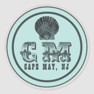 Vintage Style Cape May NJ Beach Tag Stickers