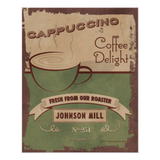 Vintage-style Cappuccino Poster