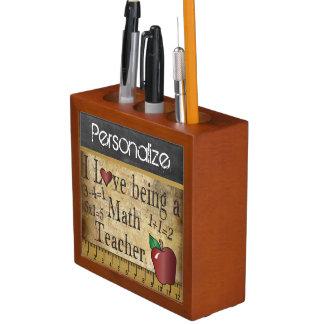 Vintage Style Chalkboard for a Math Teacher Pencil Holder