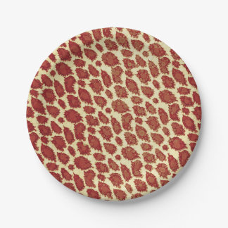 Vintage Style Cheetah Abstract Paper Plate
