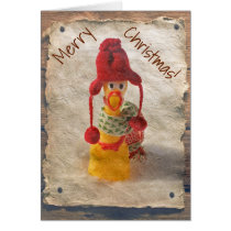 Vintage Style Chicken Christmas Card! Card