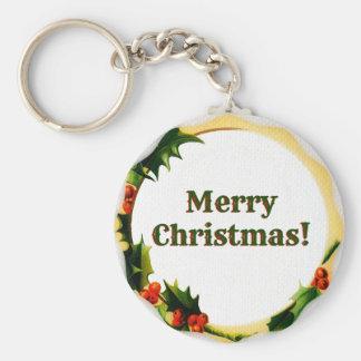 Vintage Style Christmas Keychain