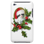 Vintage Style Christmas Kitten Barely There iPod Case