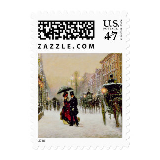 Vintage Style Christmas Postage Stamps