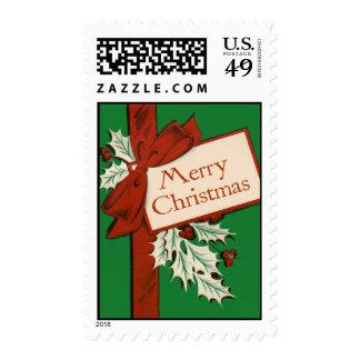 Vintage-Style Christmas Stamp