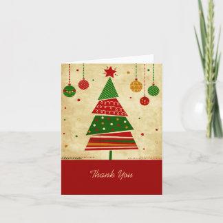 Vintage Style Christmas Tree Holiday Card