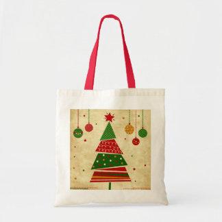 Vintage Style Christmas Tree Holiday Tote Bag