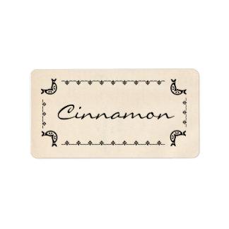 Vintage Style Cinnamon Herb Labels