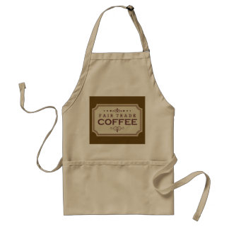 Vintage style coffee shop word art apron